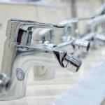 Exposición de grifos de baño